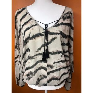 SANCTUARY: stripped blouse